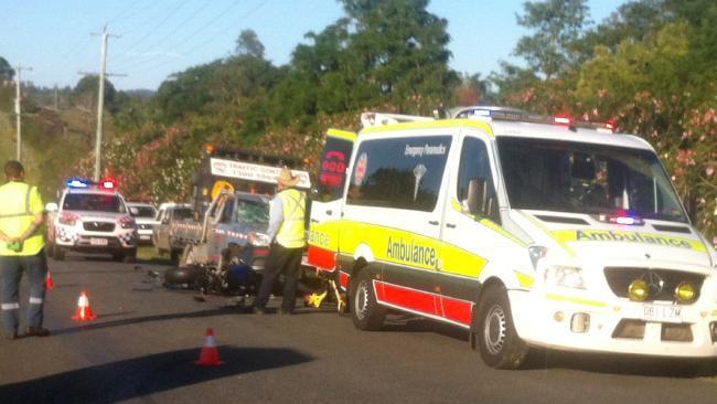 Motorcycle crash scene, Gold Coast Queensland