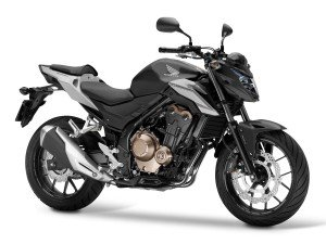 Honda's 2016 CB500F looks good on black too!