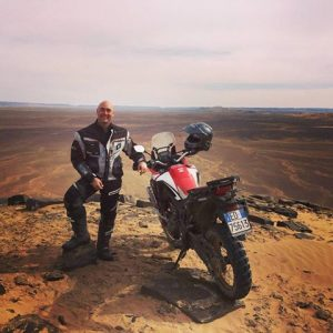 Christophe and the Honda Africa Twin