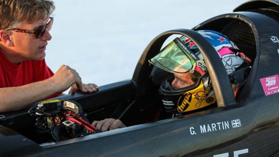 Guy Martin in Rocket Streamliner