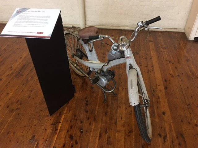 Historic bikes on display at Motorclassica