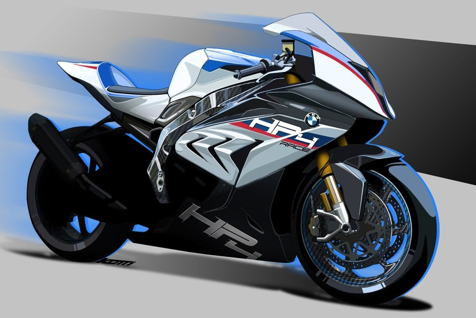 BMW's drawing of the HP4 RACE shows many similarities to the current S 1000 RR.