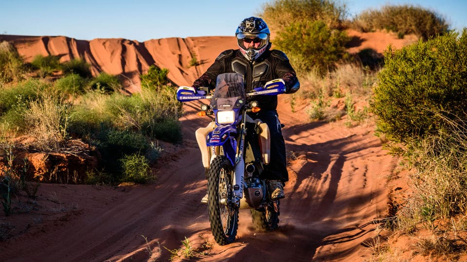 Greg Yager RideADV Simpson Crossing on WR250R