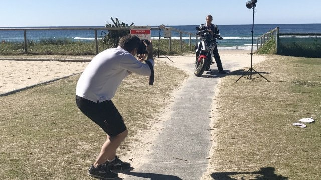 Gold Coast Bulletin photo shoot