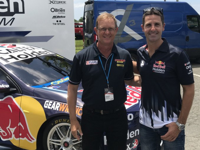 Steve McDowall and Jamie Whincup (Red Bull Holden Racing/Triple Eight Race Engineering)