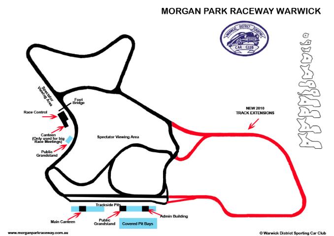 Morgan Park Raceway Track Map